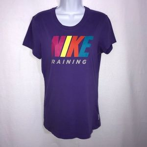Nike Training Purple Dri-Fit T-Shirt Medium
